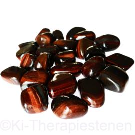 Tijgeroog rood trommelsteen (M) per st. *