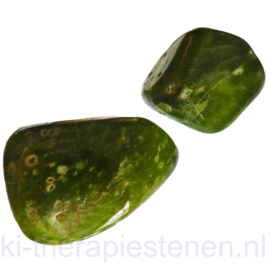 Vesuvianiet - Idokraas AA kwaliteit trommelsteen XL p.st.