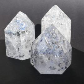 Bergkristal Fire & Ice A kwaliteit,  regenboogkwarts p.st.