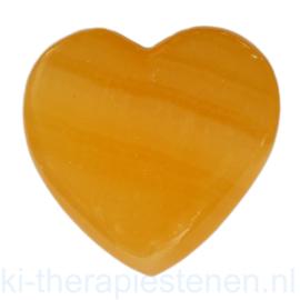 Calciet, Oranje Calciet Hart AA Kwaliteit ø 5,5 cm mét katoenen zakje