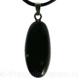 Shiva Lingam, zwart, hanger p.st.
