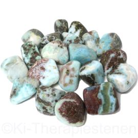 Larimar - Dolfijnsteen Dom.-Rep.,TS (XL) B kwaliteit ca 18 gr. p.st.*