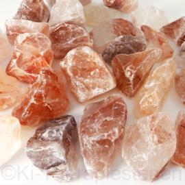 Bergkristal + IJzer (Hematoiet kwarts)Waterstenen 100/200 gram voor watervitalisatie