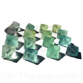 Fluoriet, Groen Oktaeders XL ø 3,5-4 cm per st.*