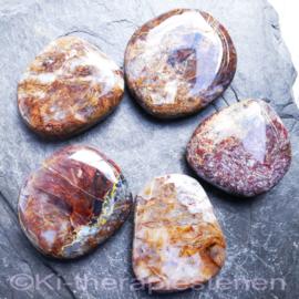 Pietersiet, platte edelsteen per st.