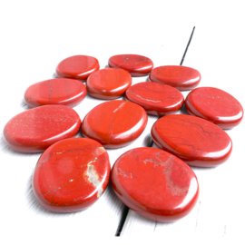 Jaspis, Rood platte edelsteen Extra  per st. *