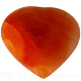 Seleniet Oranje JUMBO Hart 11  cm 'Intens' 1x uniek ex.