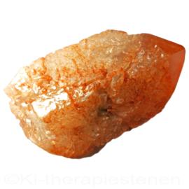 Etched Crystal (Red) - Grote kwartspunt met etsen en coderingen