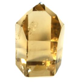 DOW Citrien Natuur AA kwaliteit kristal 126 gr.  lengte 5,5 cm- B. 4 cm.