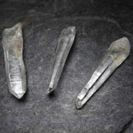 Lemurische Laserkristal A-kwaliteit, Set  3 st. ca 5,5 - 6 cm.