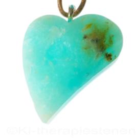 Andes opaal Azuur AA kwaliteit Swing-Hart hanger 1x uniek ex.