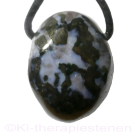 Gabbro 'Mystic Merlinite' Blackstone edelsteen hanger per st.
