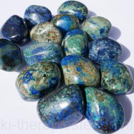 Azuriet Malachiet, trommelsteen (L) per st.