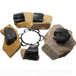 Toermalijn zwart (schorl) kristallen 0,5 óf 1 Kilopak, met 3 óf 6 tekieten