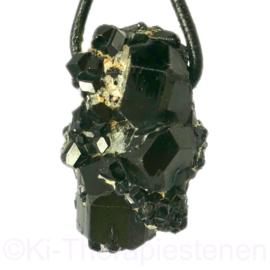 Toermalijn zwart, kristalcluster groot geboord 1x uniek ex.