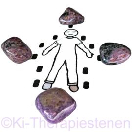 Charoiet  Steenkring Set (4x XXL TS 263 gr.) 1x unieke set ♦♦♦