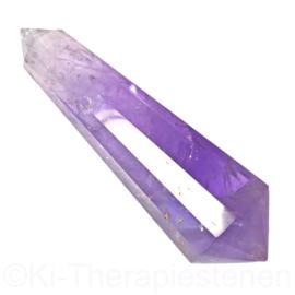 0) Dubbeleinder  Phi - Vogel kristal ***12 zijdig***,  L. 11 cm, 128 gr.