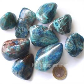 Shattukiet met Chrysocoll trommelsteen (XXL) p.st.
