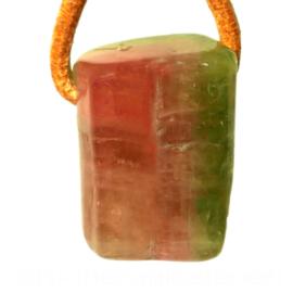 Toermalijn, Watermeloen  toermalijn hanger  | 1x UNIEK L 2,2 cm