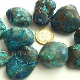 Shattukiet met Chrysocoll trommelsteen (L) p.st.