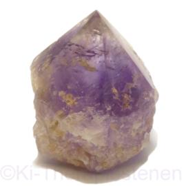 Amethist kristalpunt A-Q. staander Bolivia ca  6 cm hoogte
