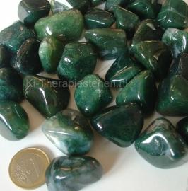 Agaat: Mosagaat trommelsteen (L) per st.*