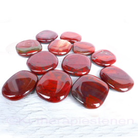 Jaspis, Regenboog platte edelsteen per st. *