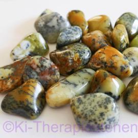 Agaat: Merliniet, (dendrieten-mos-opaal)  trommelsteen (L) per st.*