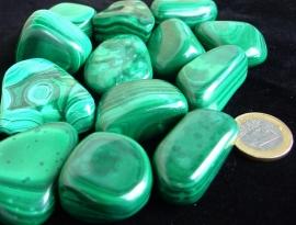 Malachiet trommelsteen (XL) p. st.*