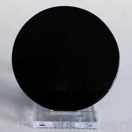 Obsidiaan spiegel ø  7,5 cm (7 tot 8 cm, dik 1 cm)
