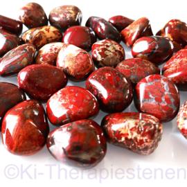 Jaspis: Brekkie jaspis trommelsteen (XL) per st. *