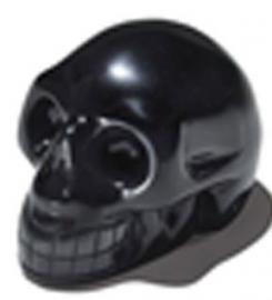 Schedel Obsidiaan Zwart 4 cm