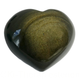 Obsidiaan, Goud A kwaliteit Hart  per st.