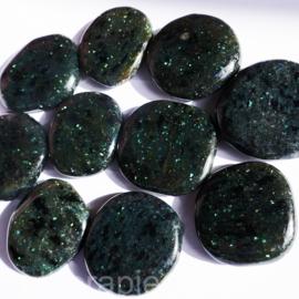 Labradoriet Galaxiet  platte edelsteen (groot) per st.
