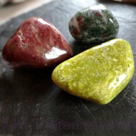Noorse kracht set: Thuliet (XXL), Eklogiet (XL) en Lizardiet noorse Jade (XXL).
