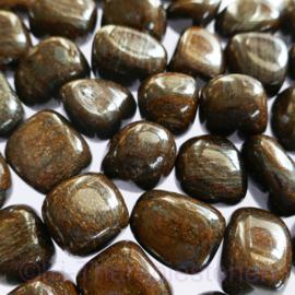 Bronziet trommelsteen (L) per st.*