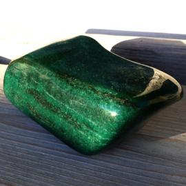 Aventurijn groen (extra donker) Sculptuur 1x uniek ex.