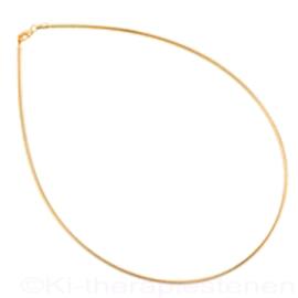 Omega  Zilver rose goud (verguld) ketting  45 cm ø 1,5 mm.