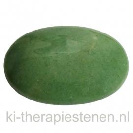 Aventurijn (Groen) massagesteen 5x7cm