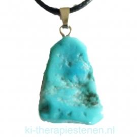 Turquoise (gestabiliseerd) plat, edelsteen hanger p.st.