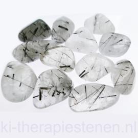 Toermalijn, kwarts A-Q. trommelsteen XL-XXL per st.