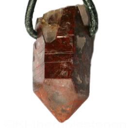 Lithium kwarts Kristalpunt  hanger per st.