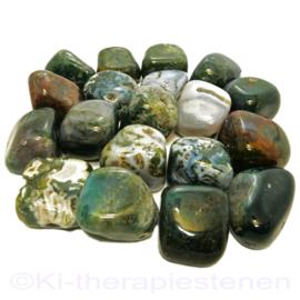 Agaat: Mosagaat trommelsteen Extra (XL) per st.*