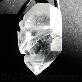 Shift kristal uit Brazilië, AQ  hanger geboord per stuk