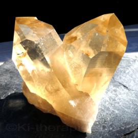Citrien (natuur) Kristalpunt Cluster Groot   1x uniek ex.