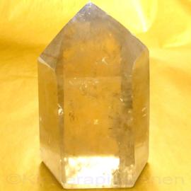 DOW Citrien natuur kristal 0,45 kilo L 9,5 cm- B. 5,8 cm.