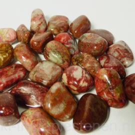 Thuliet  (piemontiet kwarts) frambozen rood trommelsteen (L) per st *.