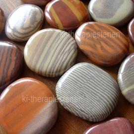 Printstone (Zandsteen), platte edelsteen per st.**