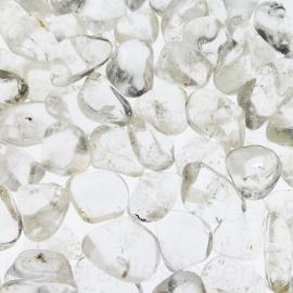 Bergkristal  trommelsteen (M) gem. 4 gr.  per st. *