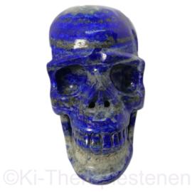 Schedel Lapis Lazuli, L 11,5 cm,  1x uniek ex. (0,9 kilo)
